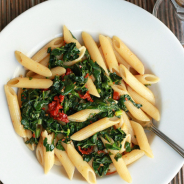Penne with Kale, Tomato, and Olives