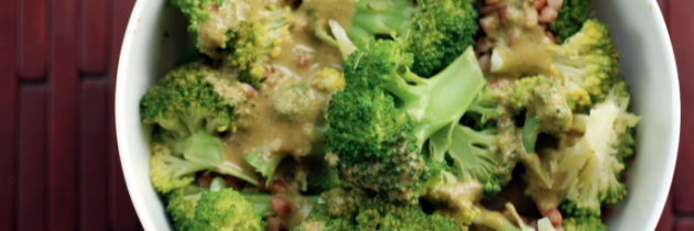 Kasha with Broccoli and Black Bean Sauce