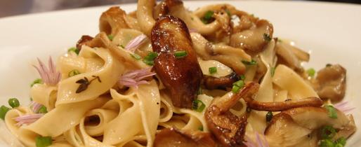 Linguini with Seared Oyster Mushroom