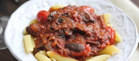 Mushroom Marinara with Pasta