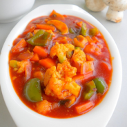 Sweet and Sour Vegetable with Almonds